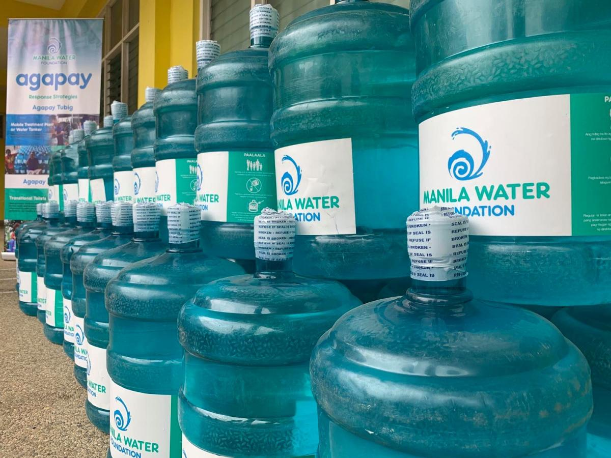 Manila Water Foudation Agapay Tubig in Batangas | Disaster response for Taal evacuees