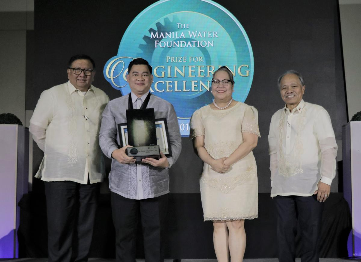 Dr. Francis Aldrine A.Uy, a civil engineer, received the award for his invention, the Universal Structural Health Evaluation and Recording (USHER) System which helps the Philippines in disaster preparedness.