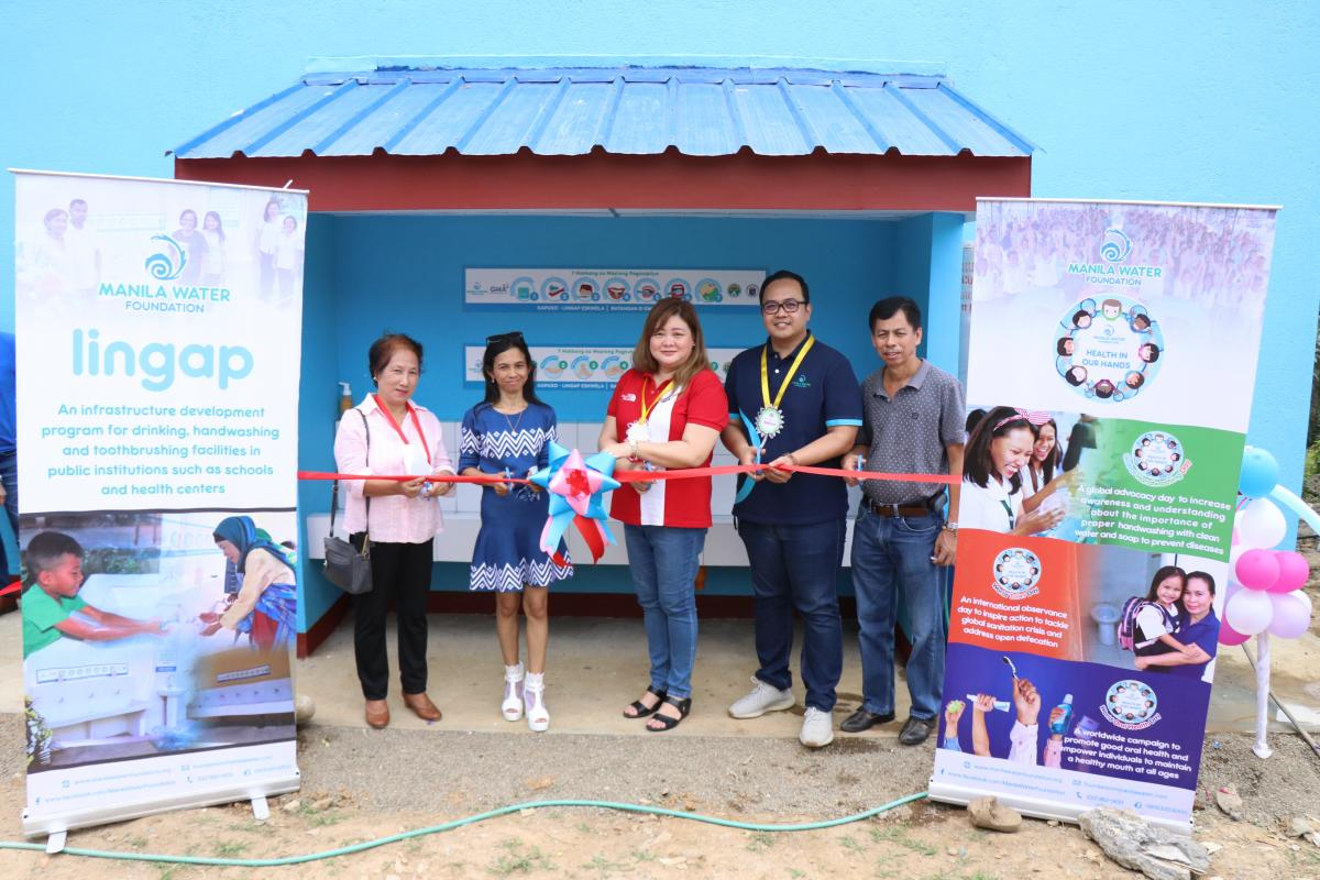 Inauguration Ceremony of MWF's Lingap hygiene facility at Batangan Elementary School, Gen. Nakar, Quezon together with GMA Kapuso Foundation and school officials