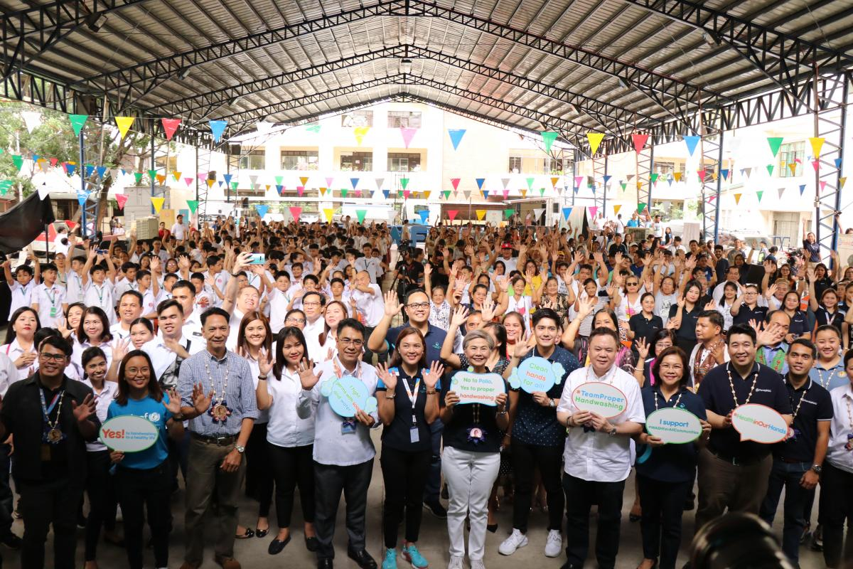 Manila Water Foundation celebrates the 2019 Global Handwashing Day at Mariano Marcos Memorial High School.