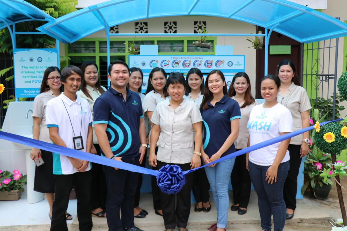 Inauguration of the WASH Facilities with Manila Water Foundation and Laguna Water