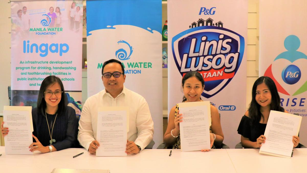 Manila Water Foundation and Procter and Gamble Philippines sign MOA
