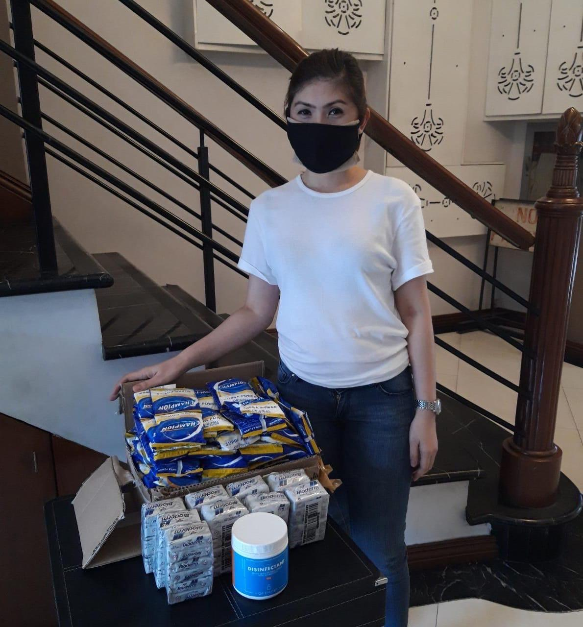 MWF sent around 300 pieces of hygiene kits in support of Philippine Disaster Resilience Foundation's (PDRF) and Airbnb's initiative to temporarily house health workers in Metro Manila.