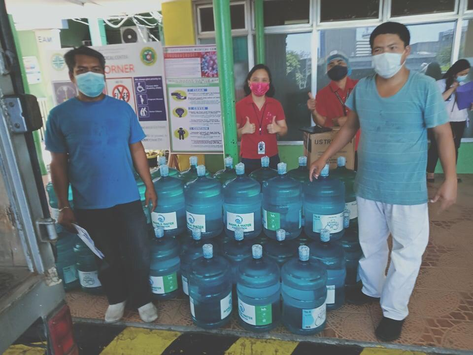 Water dispenser and 30 pieces of bottled water units were distributed at the Philippine Heart Center under Manila Water Foundation's disaster response program, Agapay.