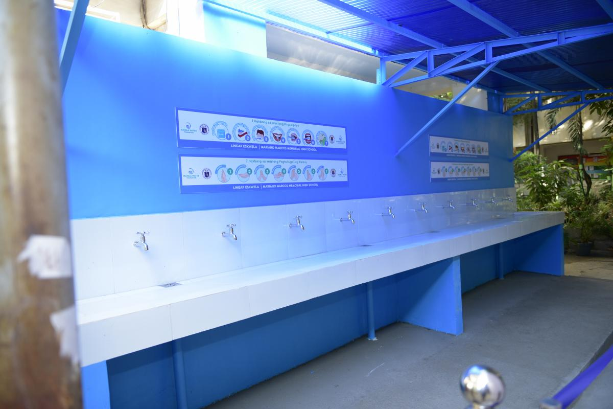 Manila Water Foundation's Handwashing Facility at MMMHS
