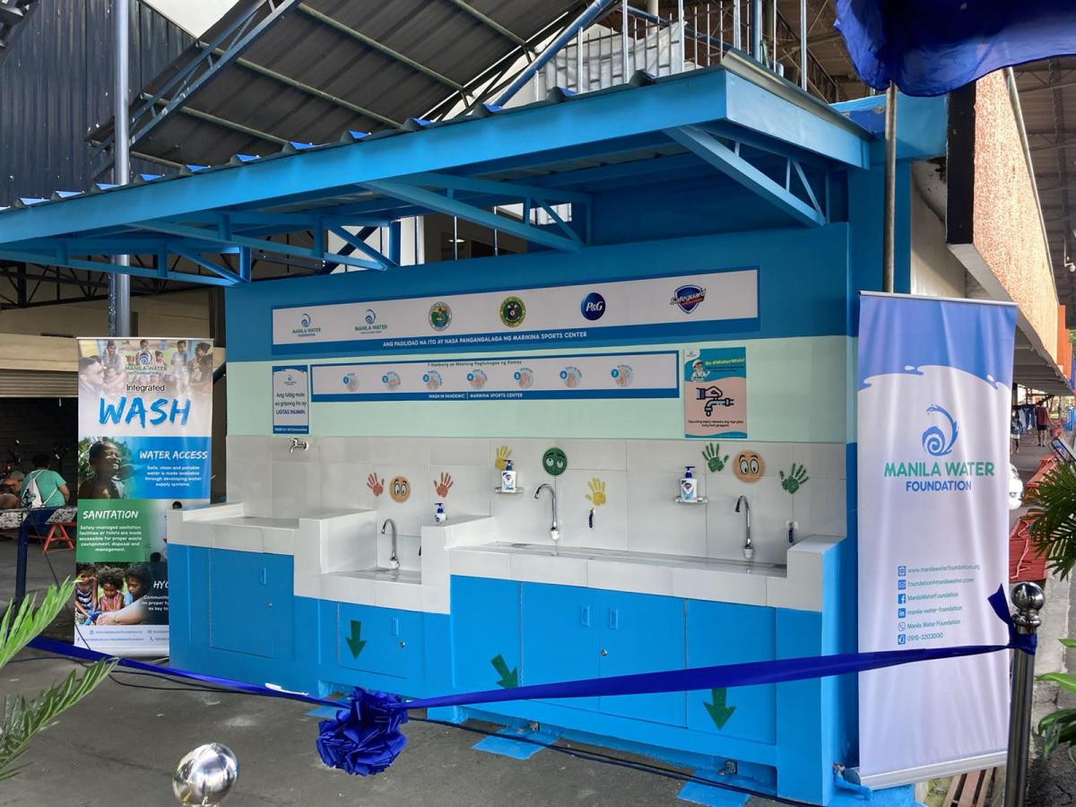 Handwashing Facility in Marikina Sports Center