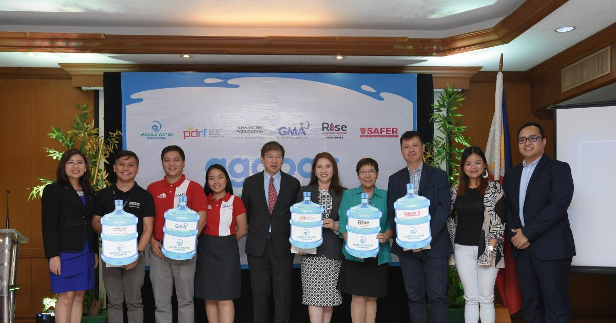 Manila Water Foundation inks agreement with government, disaster resilience orgs for Agapay