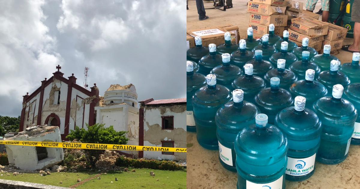 Sta. Maria de Mayan Church in Batanes and Manila Water Foundation bottled water units