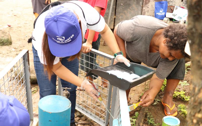 Manila Water talents celebrate volunteerism at Sitio Monicayo