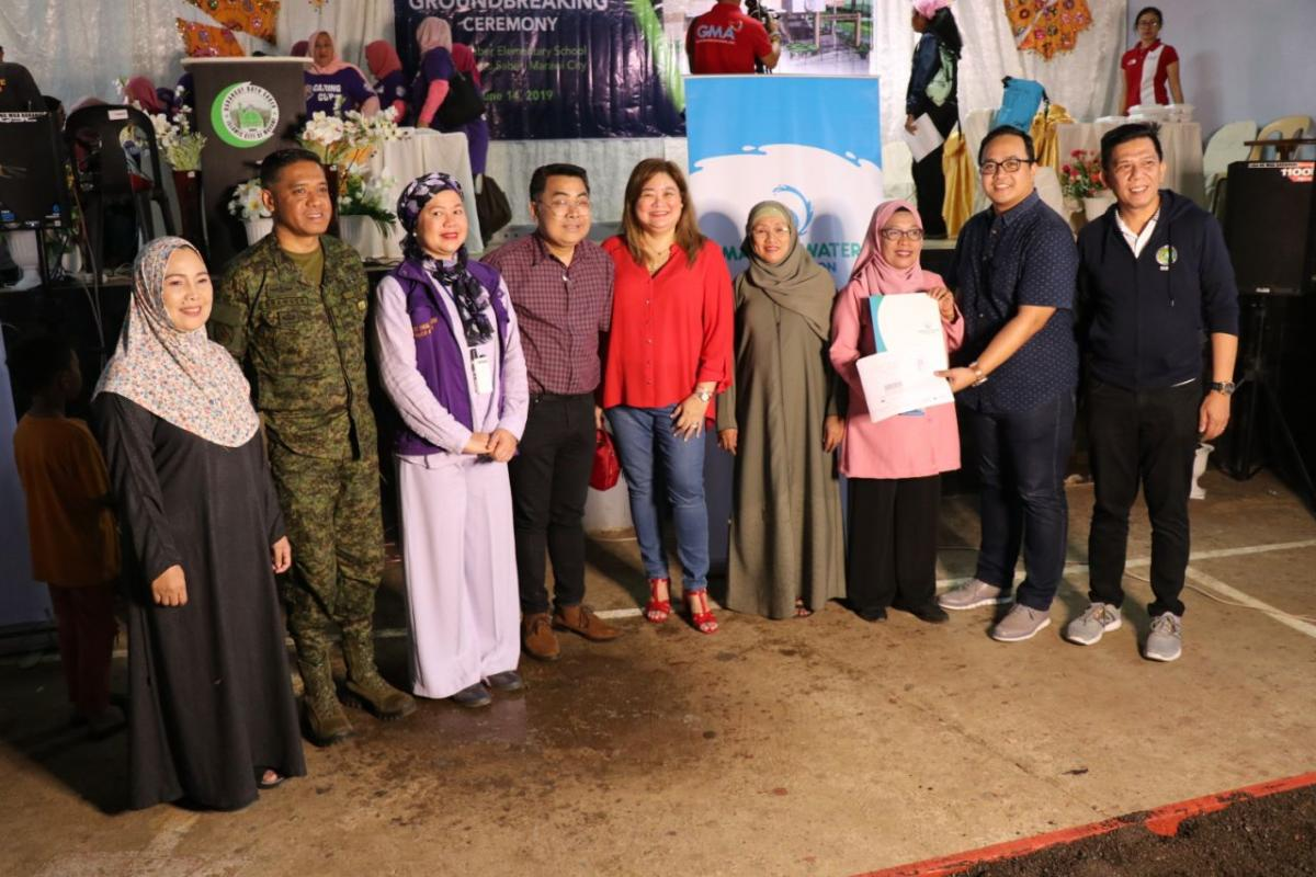 Manila Water Foundation turned over the designs for the hygiene and toilet facilities to Datu Saber Elementary School.