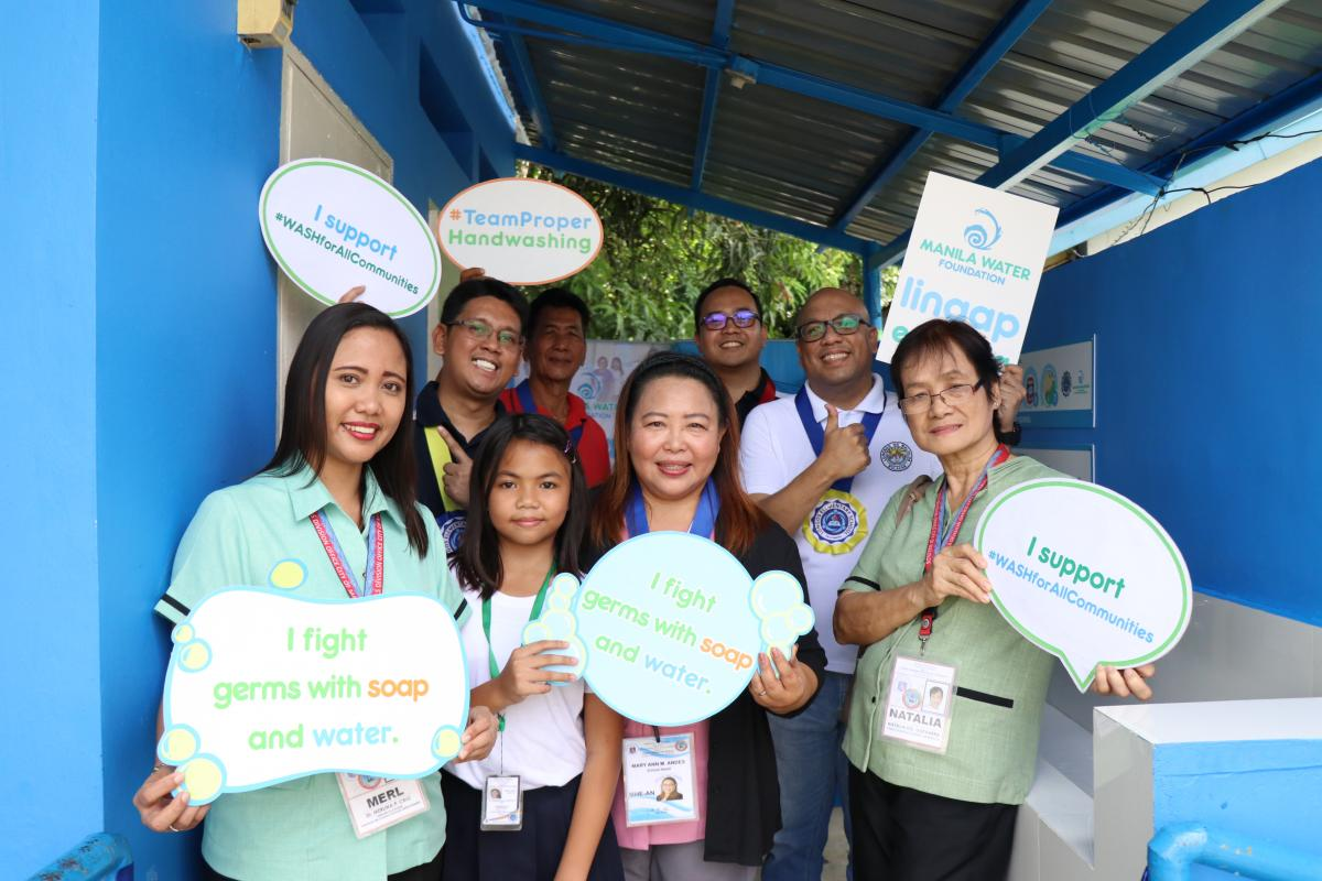 Manila Water Foundation revisits Longos Elementary School for water facility rehab