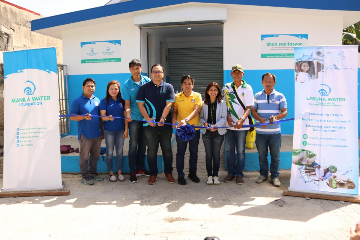 Manila Water Foundation, Laguna Water turn over public toilet in observance of World Toilet Day